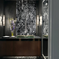 Contemporary Powder Room by Edwin Pepper Interiors