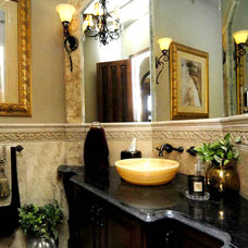 Traditional Powder Room by Timber Ridge Properties