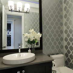 contemporary powder room by KASHMIR DHALIWAL FINE REDESIGN.