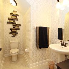 Contemporary Powder Room by M/I Homes