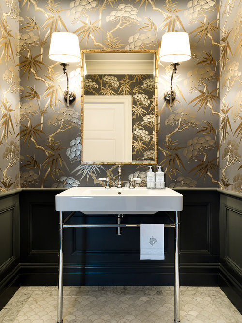 Elegant Powder Room Home Design Ideas Pictures Remodel