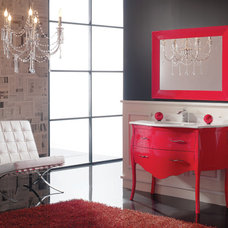 Eclectic Powder Room by Macral Design Corp