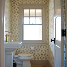 Traditional Powder Room by Shelter 7