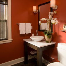 Asian Powder Room by Riddle Construction and Design