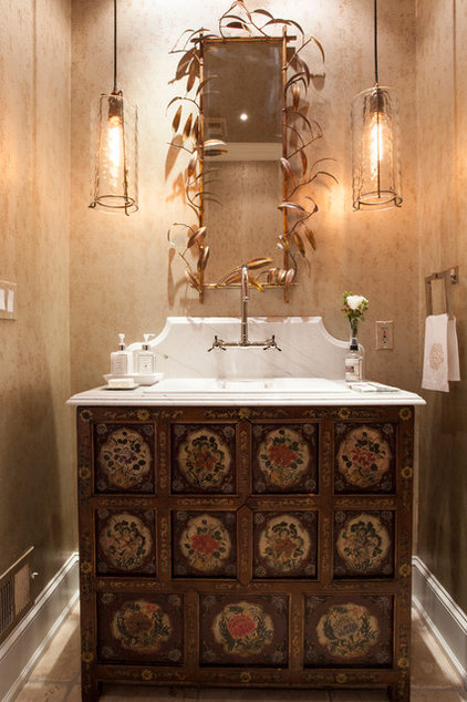 Transitional Powder Room by Rudloff Custom Builders