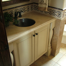 Traditional Powder Room by Kelly Cross