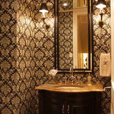 Traditional Powder Room by McIntyre Bills Corporation