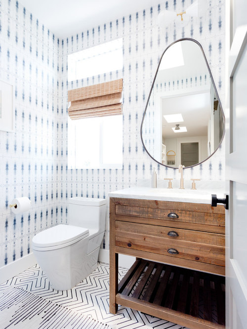 Los Angeles Powder Room Design Ideas, Remodels & Photos