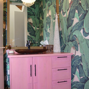 World-inspired cloakroom in Los Angeles.