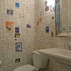 eclectic powder room by Sarah Greenman