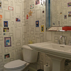 Transitional Powder Room by Sarah Greenman