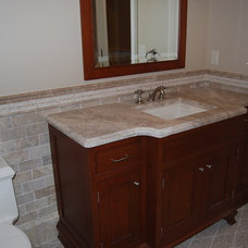 Traditional Powder Room by MAM Designs Corporation