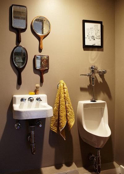Eclectic Powder Room by Joe Schmelzer, Inc. dba Treasurbite Studio, Inc.