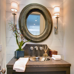 traditional powder room by White Picket Fence, Inc