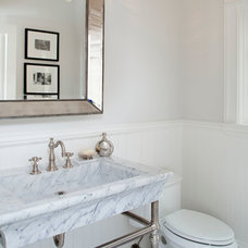 Traditional Powder Room by MODEL DESIGN INC.