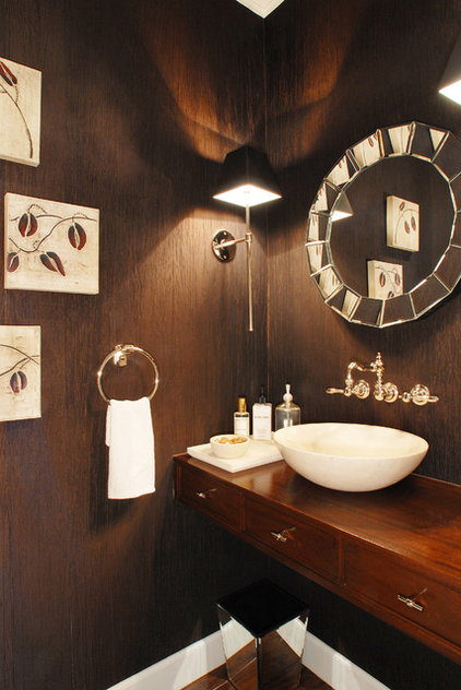 Eclectic Powder Room by Annette English
