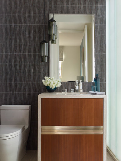 Contemporary Powder Room by Annette English & Associates