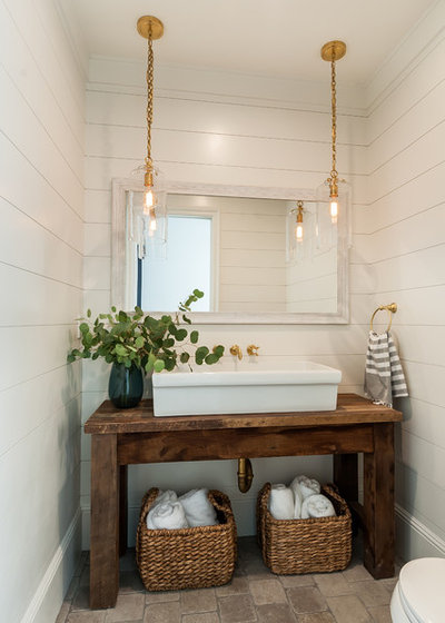 Farmhouse Powder Room by Lori Dennis, ASID, LEED AP