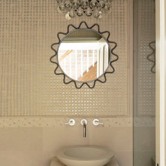 eclectic powder room by Christine Markatos Design
