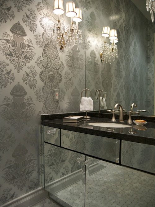 SaveEmail. Best Grey And Silver Wallpaper Design Ideas   Remodel Pictures   Houzz