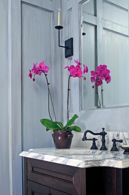 Traditional Powder Room by Burns and Beyerl Architects