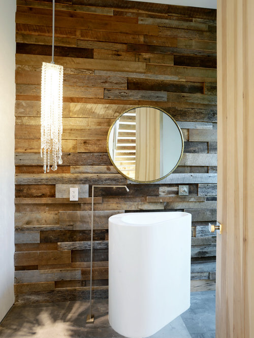 Reclaimed wood wall houzz for Reclaimed hardwood flooring los angeles