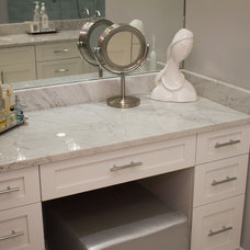 Contemporary Powder Room by Onyx Marble and Granite