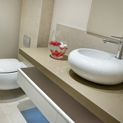 modern powder room by Bubbles Bathrooms