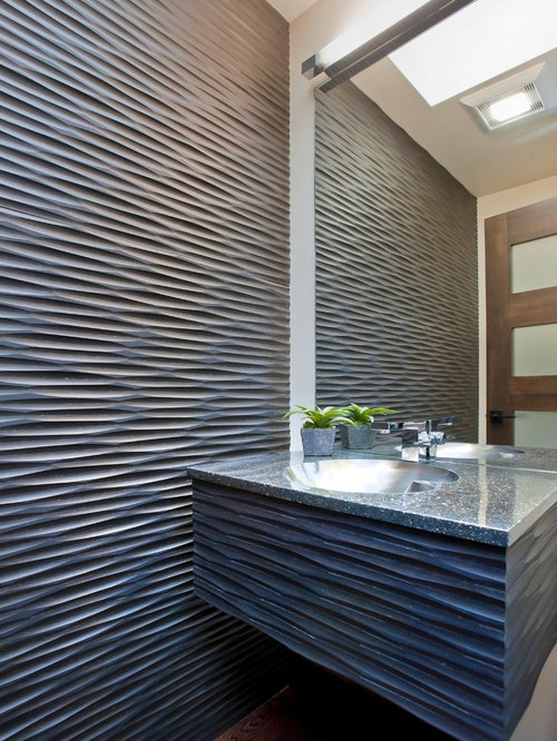 Delightful Inspiration For A Powder Room Remodel In San Francisco With An Integrated  Sink Part 28