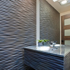 asian powder room by Prescott Design Studio, LLC