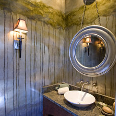 Traditional Powder Room by Julie Bell & Associates