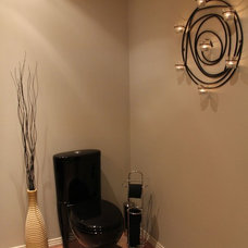 Contemporary Powder Room by Ohana Design Inc