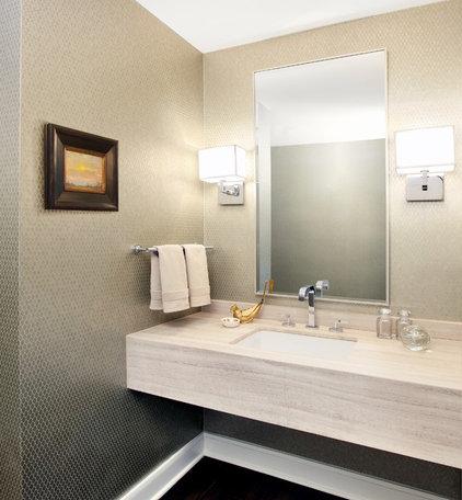 Contemporary Powder Room by Soledad Builders, LLC