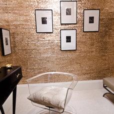 Contemporary Powder Room by Alex Amend Photography