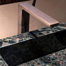 Modern Powder Room by David J. Wade Inc, Architect