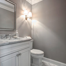 Transitional Powder Room by Xtreme Painting & Remodeling, LLC