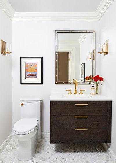 Traditional Powder Room by Case Design/Remodeling, Inc.