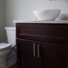 Modern Powder Room by Choice Cabinet Chicago