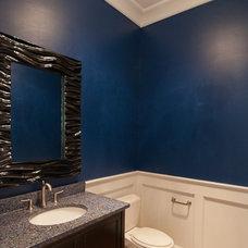 Modern Powder Room by Scott Daves Construction Co., Inc