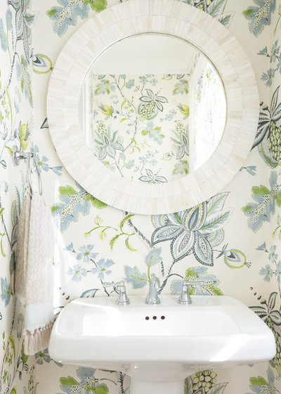 Beach Style Powder Room by Lisa Mohindroo, Mohindroo Interiors
