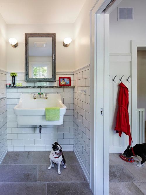 Photos et idees deco de wc et toilettes avec un carrelage for Carrelage adhesif salle de bain avec led driving lights