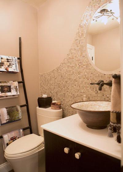 Contemporary Powder Room by JMH Designs