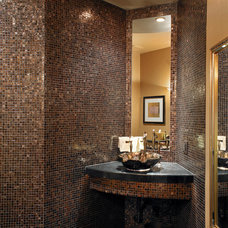Eclectic Powder Room by Soloway Designs Inc | Architecture + Interiors