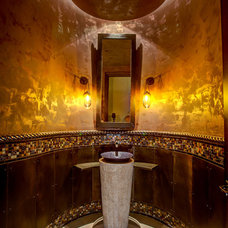 Mediterranean Powder Room by Soloway Designs Inc | Architecture + Interiors