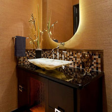 Contemporary Powder Room by AVID Associates LLC