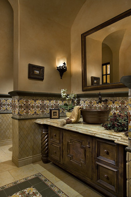 Mediterranean Powder Room by Fratantoni Luxury Estates