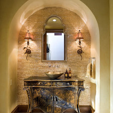 mediterranean powder room Mediterranean Powder Room