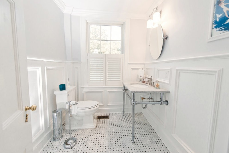 Traditional Powder Room by Passacantando Architects AIA