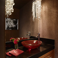 Eclectic Powder Room by ScavulloDesign Interiors