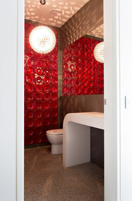 Contemporary Powder Room by Jasmine McClelland Design